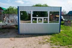 Внешняя отделка поста охраны декоративными панелями цвета серый металлик