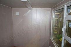 Отделка стен панелями МДФ (цвет - дуб серебристый)
