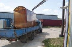 Транспортировка павильона для курения КМ-1