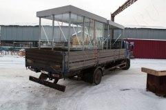 Транспортировка павильонов для курения КМ-12