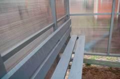 Скамья и спинка - деревянный настил с покраской эмалью