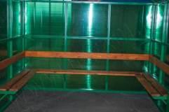 Скамья по трем сторонам