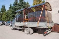 Готовые к транспортировке павильоны для курения КМ-9