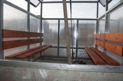 Размеры павильона для курения КМ-9 - 2 на 2 метра