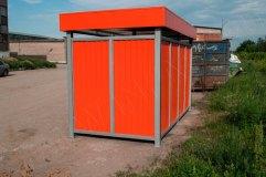 Закрытая контейнерная площадка (вид сбоку)