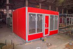 Внешний вид модульного торгового павильона размером 4 на 4 метра