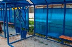 Остановочный павильон оснащается конусообразными урнами