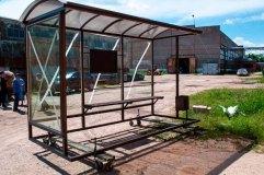 Внешний вид остановочного павильона ОМ-15