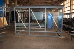 Остановочный павильон ОМ-15 остекляется триплексным стеклом