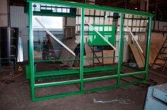 Остановочный павильон ОМ-15 остекляется триплексом