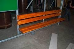 Скамья - деревянный настил, покрытый морилкой
