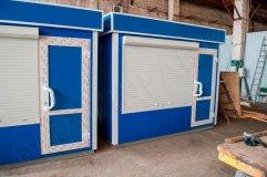 Защитные роллетные системы на окнах павильонов