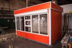 """Внешний вид торгового киоска модели """"Оранж"""" длиной 4 м"""
