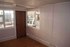 Внутренняя отделка модульного павильона 5 на 4 м.