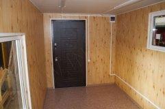 Внутреннее помещение павильона. Отделка из МДФ. Потолок ПВХ панели.