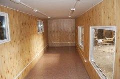 """Отделка внутреннего помещения строения осуществлена панелями МДФ с текстурой """"Сосна"""""""