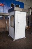 Металлическая дверь выкрашенная в цвет стен поста