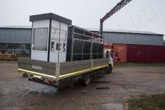Транспортировка поста охраны и контейнерной площадки на объект