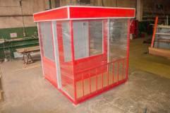 Упакованный и готовый к транспортировке пост для охраны