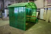 Миниатюра павильона для курения КМ-3 (цвет зеленый)