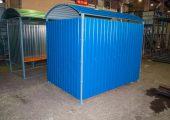 Внешняя отделка контейнерной площадки отрытого типа