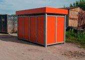 Внешний вид закрытой контейнерной площадки для мусора  КП-4