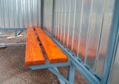 Скамья — деревянный настил покрытый морилкой и лаком
