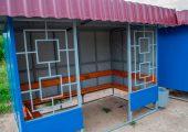 Фасадная часть автобусной остановки ОМ-3К (декор с правой и левой стороны)