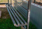 Скамья — деревянный настил окрашенная в тон всей конструкции