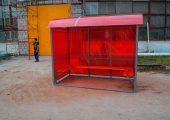 Внешний вид павильона для курения КМ-1 со скмьей по трем сторонам