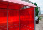 Отделка крыши — сотовый поликарбонат в тон стен