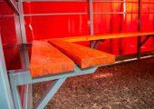 Скамья — деревянный настил пропитанный морилкой и покрытый лаком