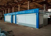 Модульный павильон имеет два торговых помещения каждая площадью около 25 кв.м