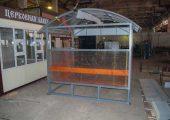 Задняя стенка павильона для курения КМ-7