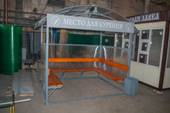 Миниатюра павильона для курения КМ-7 с отделкой прозрачным поликарбонатом