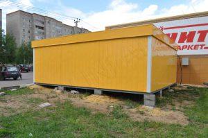 Важно, чтобы модульный торговый павильон был установлен в выровненной плоскости