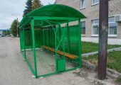 Автобусная остановка длиной 6 метров, шириной 2 метра