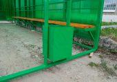 Остановка комплектуется урной для мусора
