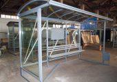 Внешний вид остановочного павильона ОМ-15 шириной 2 м