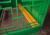 Декоративная решетка с боковой стороны остановочного павильона ОМ-3