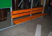 Скамья — деревянный настил, покрытый морилкой