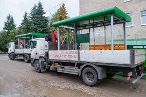 Готовые к транспортировке остановочные павильоны ОМ-8