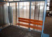 Скамья деревянная с покрытием морилкой и лаком