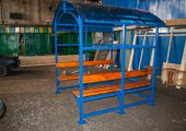 Каркас изделия сварной неразборный, выкрашен в синий цвет