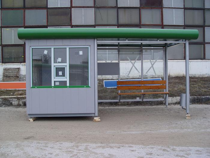 Внешний вид торгово-остановочного павильона ОТМ-6