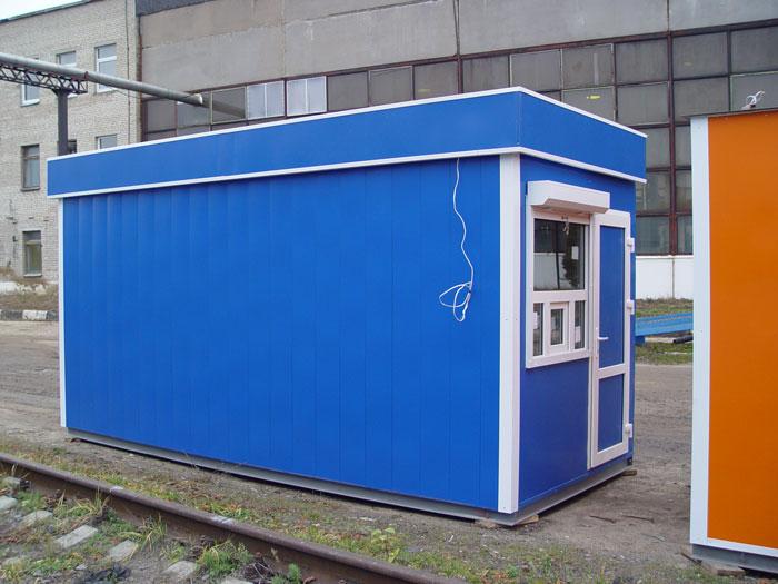 """Модуль мини-магазина """"пригородная касса"""" с входной дверью и окном с форточкой"""