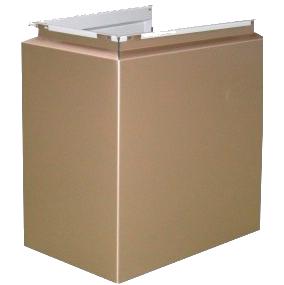 Фасадная кассета для отделки несущих стоек