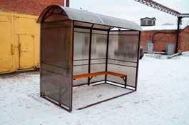 Уличный павильон для курения обшитый поликарбонатом
