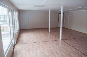Внутренняя отделка павильона - стены МДФ, потолок панели ПВХ, линолеум