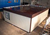 Модульный павильон 6 на 9 м в сборе на производстве